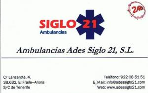 Ambulancias Ades Siglo 21
